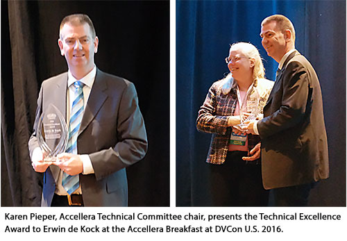 Erwin de Kock receives 2016 Technical Excellence Award